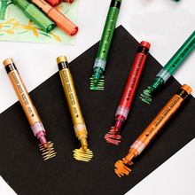6 Colors Set New Products Eco-friendly Water Resistant Metallic Effect Pigment Acrylic Marker Pen For DIY Album Gift Card