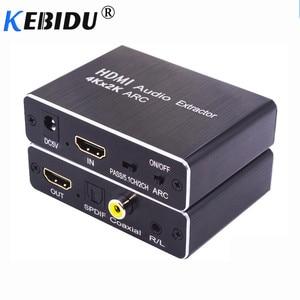 Image 1 - Kebidu HDMI 2.0 Audio Extractor 5.1 ARC HDMI Audio Extractor Splitter HDMI To Audio Extractor Optical TOSLINK SPDIF For Speaker