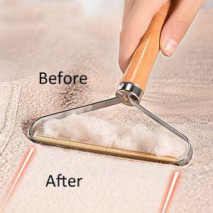 Removedor de pelusa mágica, ropa, pelusa tela, rodillos de afeitar, mano de madera, herramientas de limpieza de cepillo de cobre para suéter, abrigo tejido