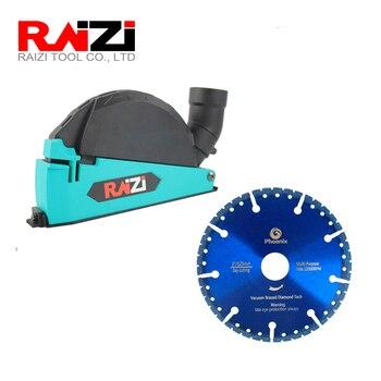 Raizi Angle Grinder Cutting Dust Shroud With 115/125mm Universal Vacuum Brazed Diamond Saw Blade Dust Cover Attachment vivian arend diamond dust