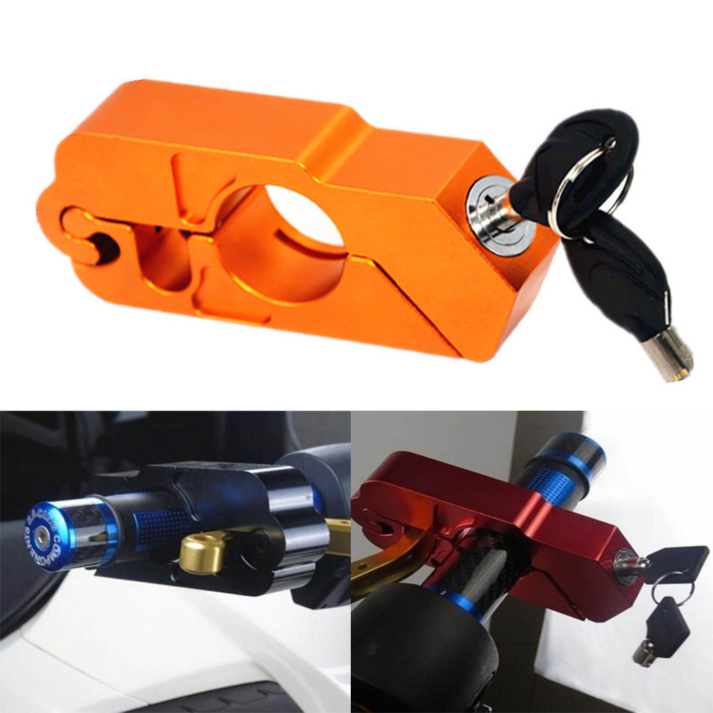 Handlebar Hand Lock Lock Brakes Motorcycle Handlebar Lock Scooter ATV Brake Clutch Security Safety Theft Protection Locks