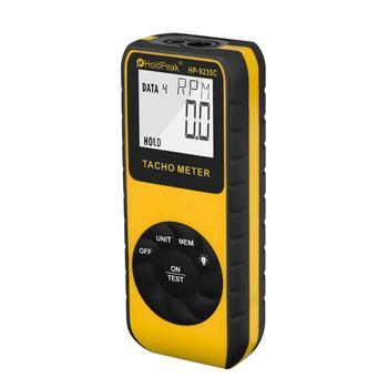 HoldPeak Laser Tachometer HP-9235C Speed Meter Digital Diagnostic-tool Photo LCD RPM Meter Engine Motor Non-contact Tachometer hot sale 4 digital green led tachometer rpm speed meter proximity switch sensor 12v