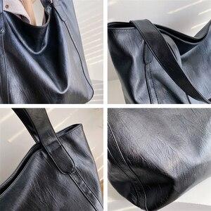 Image 5 - Burminsa בציר גדול קיבולת רך כתף תיק לנשים משרד גבירותיי עבודה גדולה A4 תיקי גבוהה באיכות עור מפוצל לשאת שקיות