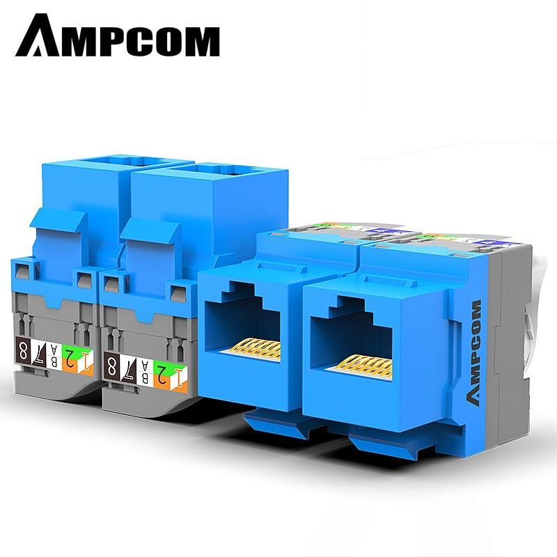 AMPCOM 10 шт. CAT5e инструмент без разъема для ключей, RJ45, самоблокирующийся Cat5e модуль для ключей, адаптер без дырокол, инструменты, требуемые соед...