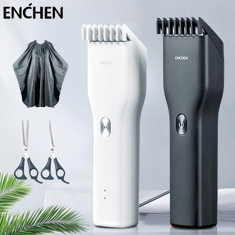 ENCHEN Boost גברים של שיער ספר קוצץ מקצועיות ערכת קרמיקה חותך שתי מהירות אלחוטי חשמלי שיער גוזם לגברים Chidren