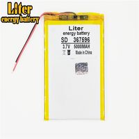 Tablet pc 367596 3.7V 5000mAH (Q88 tablet polymer lithium ion battery) Rechargeable battery for tablet pc 7 inch 8 inch 9inch