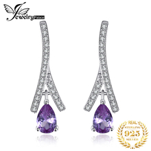 JewelryPalace New 1.3ct Pear Created Alexandrite Sapphire Water Drop Earrings 925 Sterling Silver Fashion Fine Jewelry For Women jewelrypalace elegant 2 43ct created alexandrite sapphire cubic zirconia halo adjustable bracelets for women 925 sterling silver