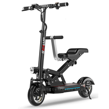 Adult Electric Scooter 2 Wheel Electric Scooters 500W 48V Four Suspension Folding Electric Bike For Kids With Two Seat