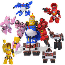 5pcs/set High Quality ABS Fun Larva Transformation Toys Action Figures Vehicle Deformation Mecha Robot Mode for Child Gift(China)