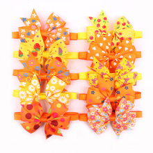 60PCS Fall/Autumn Pet Dog Cat Puppy Bow Ties Adjustable Yellow&Orange Dog Ties for Small&Medium Dogs Accessories Pet Product 60pc thanksgiving dog accessories pet cat dog bow tie small dog bow ties puppy dog bowtie collar fall pet products for dogs