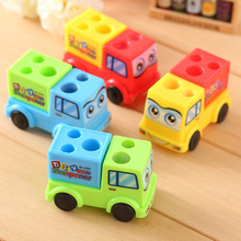 Pencil Sharpener Stationery-Supplies School Kids Car Cartoon for Students Children 1pc