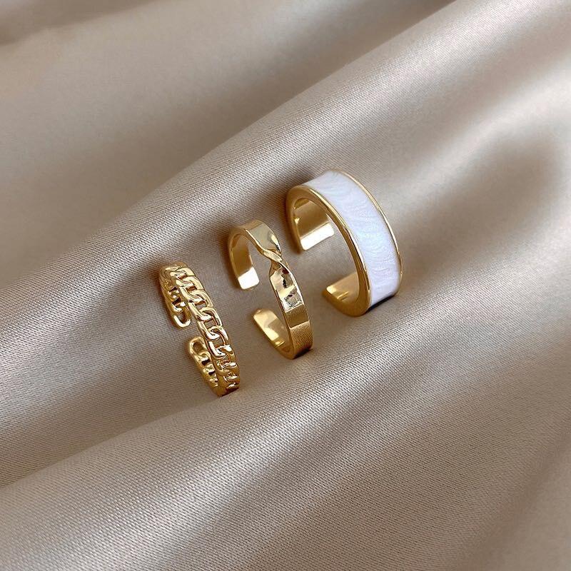 Латы 2021 Новый готический стиль три части Открытие Кольца для женщин модные ювелирные изделия европейский и американский Свадьба сексуальное кольцо - Топ аксессуаров с Али