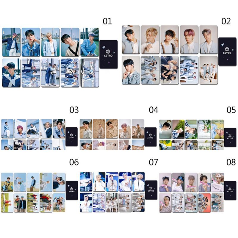 10Pcs/Set KPOP ASTRO Double Side LOMO Card New Album 7th GATEWAY Photocard Photo Cards For Fans Collection