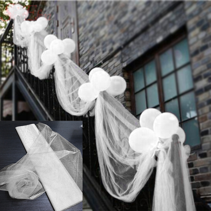 72 см * 10 м прозрачные тюлевые шторы из органзы, ткань для свадебной церемонии, украшения для вечеринки, сделай сам, детский душ 5z