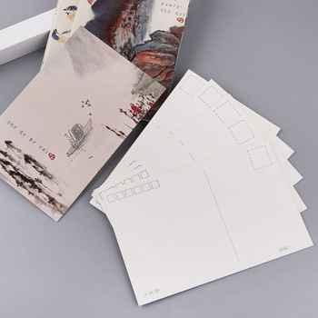 30 แผ่นภูมิทัศน์ภาพวาด Retro VINTAGE โปสการ์ดคริสต์มาสของขวัญการ์ด WISH โปสเตอร์การ์ด - DISCOUNT ITEM  28% OFF All Category