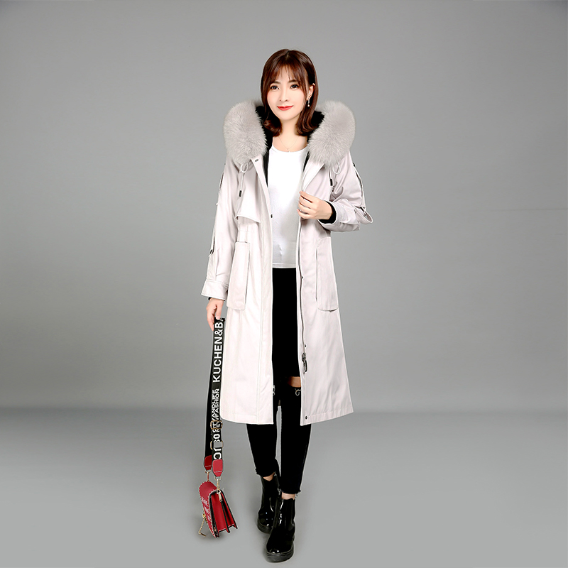 2019 winter women 39 s coat fox fur collar coat real fur coat fox collar rex rabbit liner genuine fur jacket raccoon collar parka in Real Fur from Women 39 s Clothing