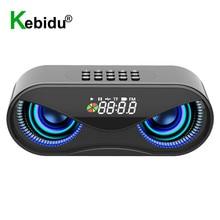 Bluetooth Speaker Wireless Alarm-Clock Column Fm-Radio Usb Music Portable Owl AUX Led-Flash