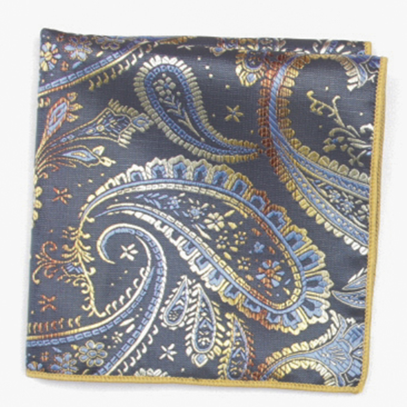 Paisley  Patterned Pocket Square With Patterns Handkerchief