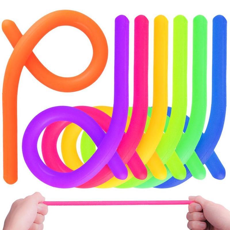 1pcs TPR Decompression Toy Rope Children Adult Toy Fidget Autism Vent Toys Soft Noodle Stretch String Anti Stress Toys 28cm