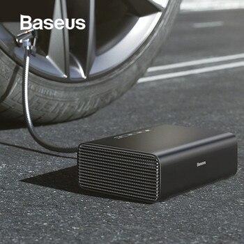 Baseus compresor de aire inflador de neumaticos para auto del coche neumático bomba inflable 12V portátil Inflador de neumáticos automático para neumáticos de coche