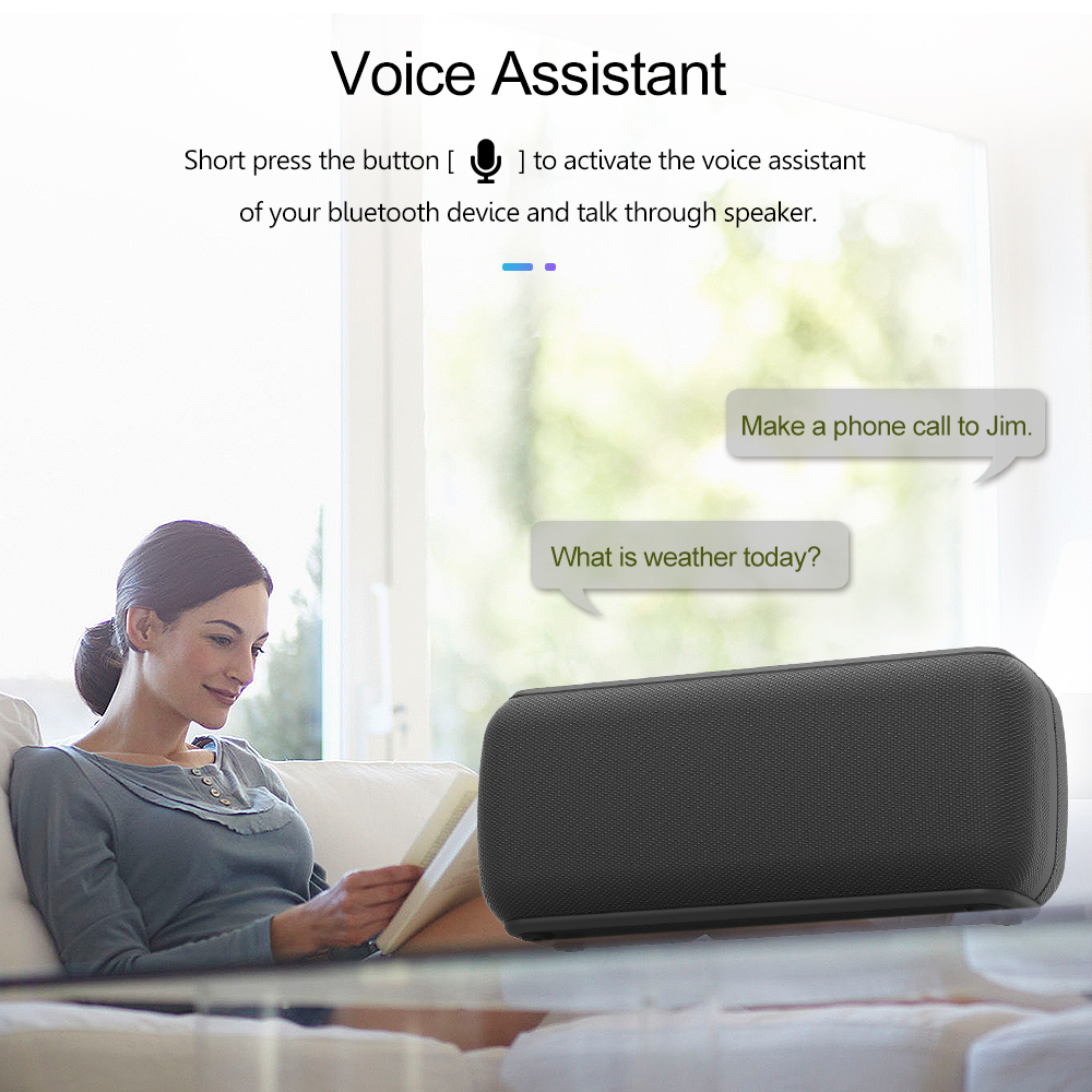 XDOBO Bluetooth-Speaker Voice-Assistant IPX5 Extra-Bass Waterproof Wireless TWS 60W 1