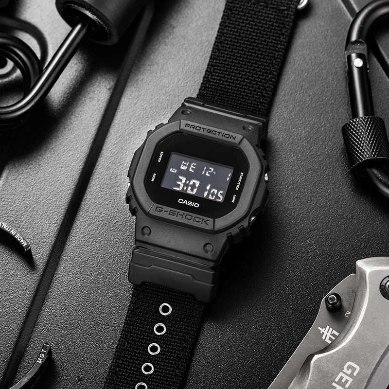 Zegarek Casio G-SHOCK sportowy i rekreacyjny kwadratowy elektroniczny męski zegarek DW-5600BBN-1
