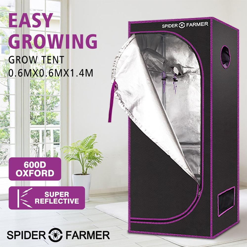 2'x2' 60x60 Cm Grow Tent Spider Farmer Indoor  Hydroponic Home Box Plant Garden For Reflective Aluminum Oxford Cloth Greenhouse