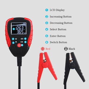 Image 3 - Digital 12V Car Battery Tester With AH Mode Battery Load Tester and Analyzer of Battery Life Percentage Voltage Resistance