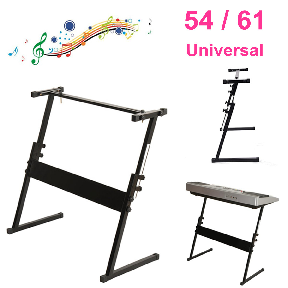 54 61 Key Electronic Piano Stand Adjustable Z-type Iron Rack Keyboard Instrument Stand Accessories Electric Instrument Parts