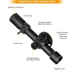 Image 2 - ohhunt LR 2.75 15X32 SFIR Hunting Scope Glass Etched Reticle Red Illumination Side Parallax Turret Lock Reset Riflescopes