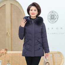 Women Winter Hooded Parkas Sequined Flower Pockets Fur Hood Puffer Basic Coat Woman Warm Puff Jacket Black Red Quilted Outerwear black fashion side pockets hoodie quilted outerwear