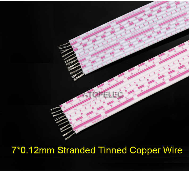 UL2468 26AWG Red-White Flat Ribbon Cable Tinned Copper Terminal Wire 6//7//8//9//12P