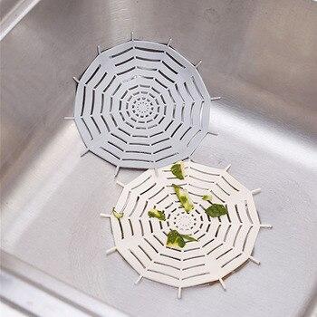 Araña Web fregadero Anti-bloqueo piso cubierta de drenaje baño Filtro de pelo fregadero de cocina Filtro de cabello de alcantarilla