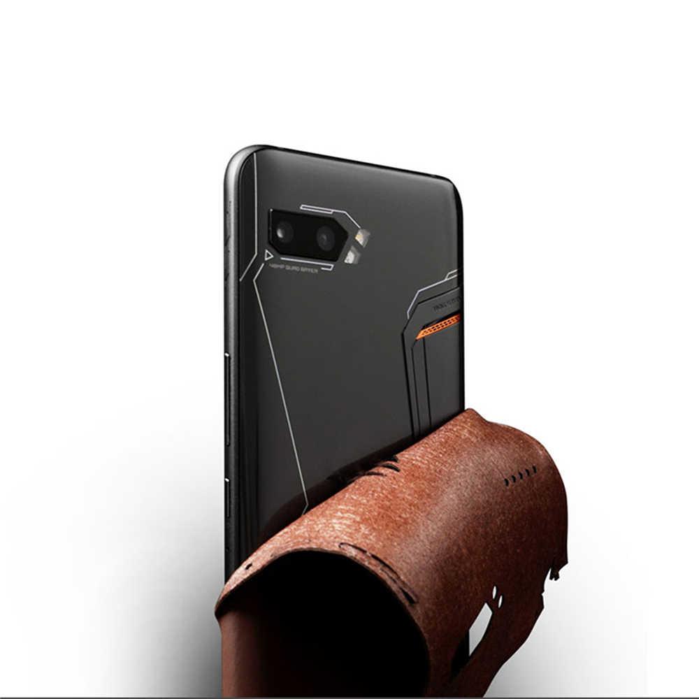 Étui de protection en cuir pour ASUS ROG Phone II 2/ZS660KL protecteur Film autocollant boîtier coque conception creuse