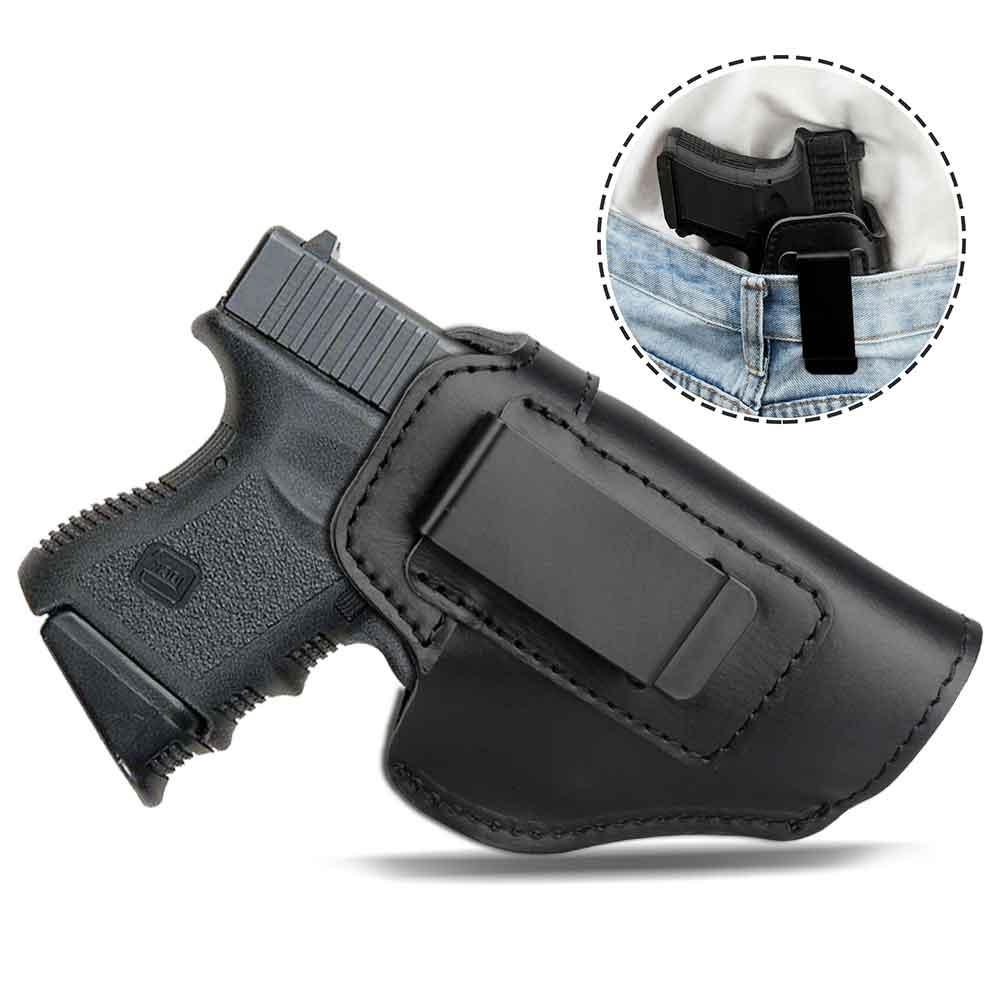 Coldre de caça tático para beretta 92 glock 17 19 22 23 m & p acessórios arma coldre couro escondido tático caso pistola