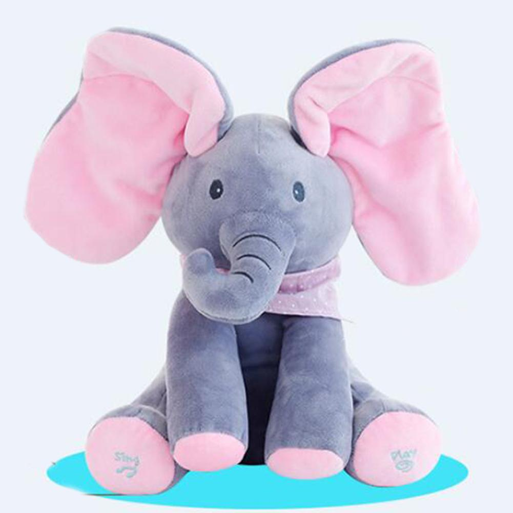 Music Doll Elephant Electric Singing Plush Toy