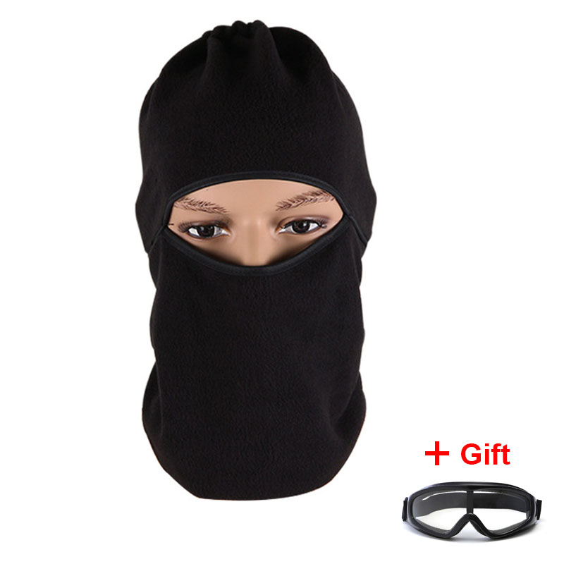 Outdoor Paintball CS War Game Face Mask With Goggles Windproof Hunting Tactical Mask Thermal Ski Snowboard Cycling Balaclava