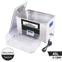 Dual Frequency Ultrasonic Cleaner 45L High Power Heating Desktop Circuit Board Car Parts Mold Metal Ultrasonic Washing Machine