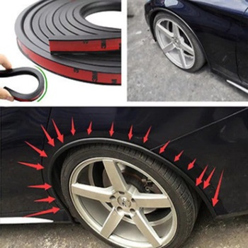 Car Fender Flare Extension Wheel Eyebrow Protector Lip Wheel-arch Trim Wheel Eyebrow Arch Decorative Strip Car Tires image