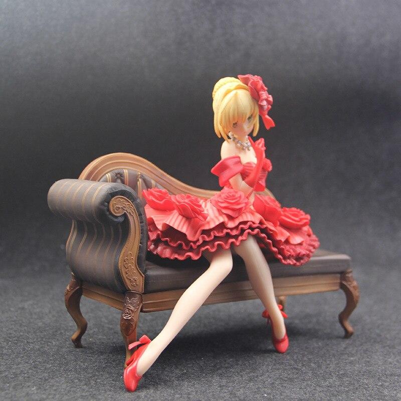 H634be0f3e3f84e1dbbffbcd109958bb5b Action Figure 20cm anime Fate Stay Night Extra vermelho sabre nero claudius césar augustus germânico anime figuras de ação pvc brinquedos