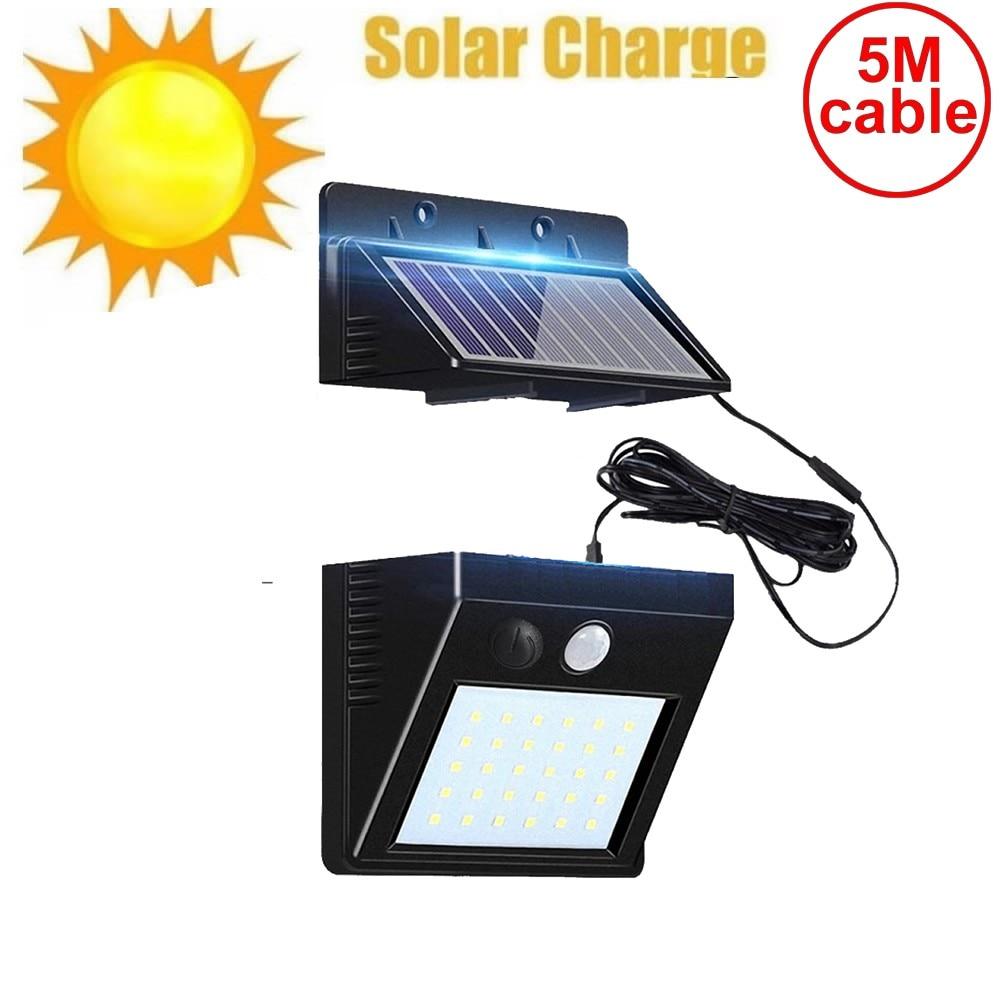 30 Led Solar Light Split Panel Waterproof Street Wall Security Lamp Pendant Spotlights Garden Garage Patio Yard Patio Deck Fence