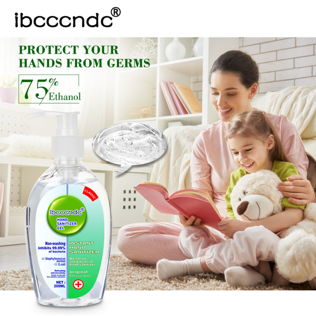 200ml Disposable Hand Sanitizer Gel Quick-dry Germicidal Portable Cleaning Wipe Out Bacteria Gel Hand Antiseptic Soap No Washing 3