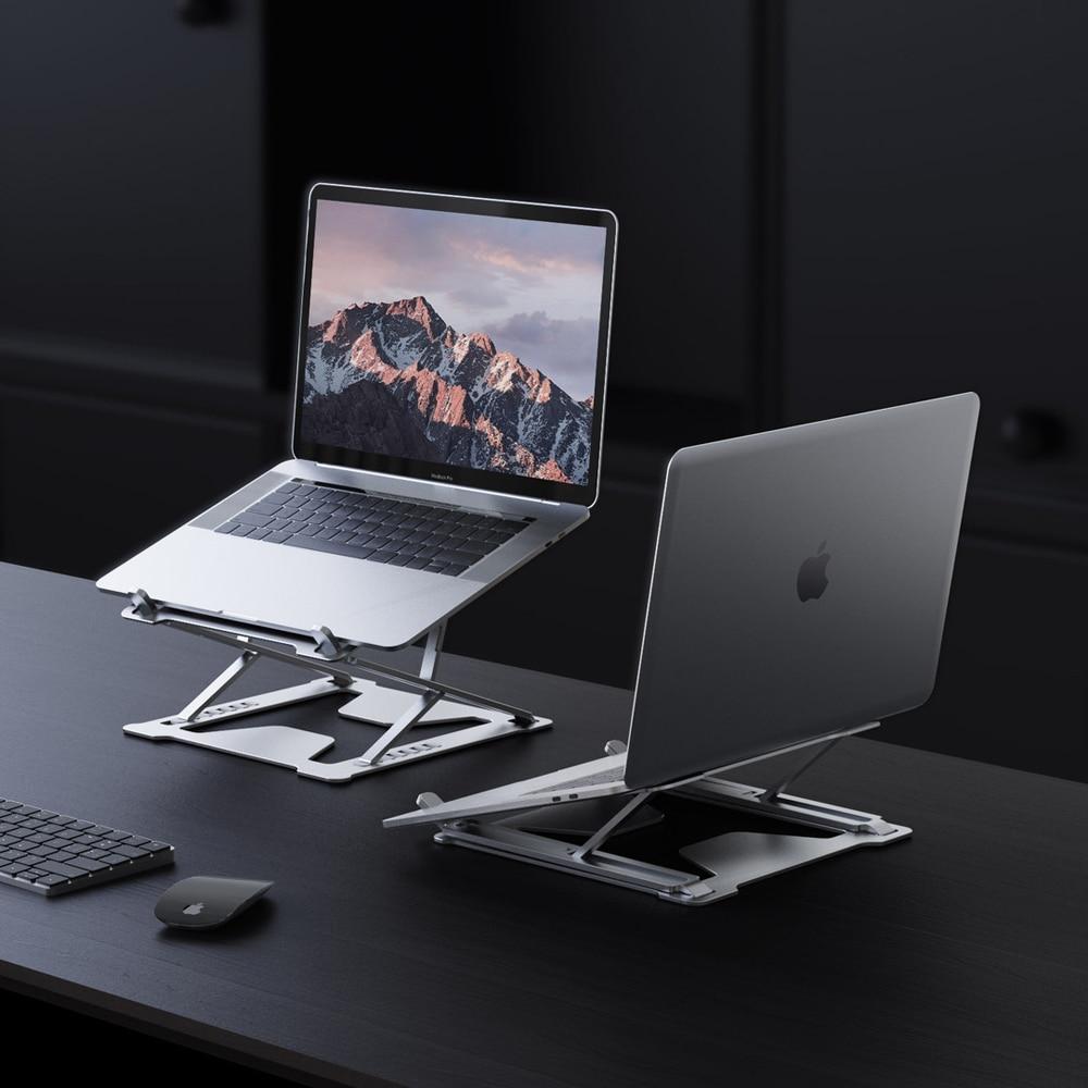 Подставка Складная алюминиевая для ноутбука, аксессуар для Macbook 12 Pro Air, подставка для планшета, Chromebook|Подставка для ноутбука|   | АлиЭкспресс