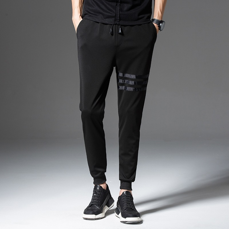 MEN'S Trousers Korean-style Trend Slim Fit Pants Casual Ankle Banded Pants Athletic Pants Men Loose-Fit Versatile Capri Pants Su