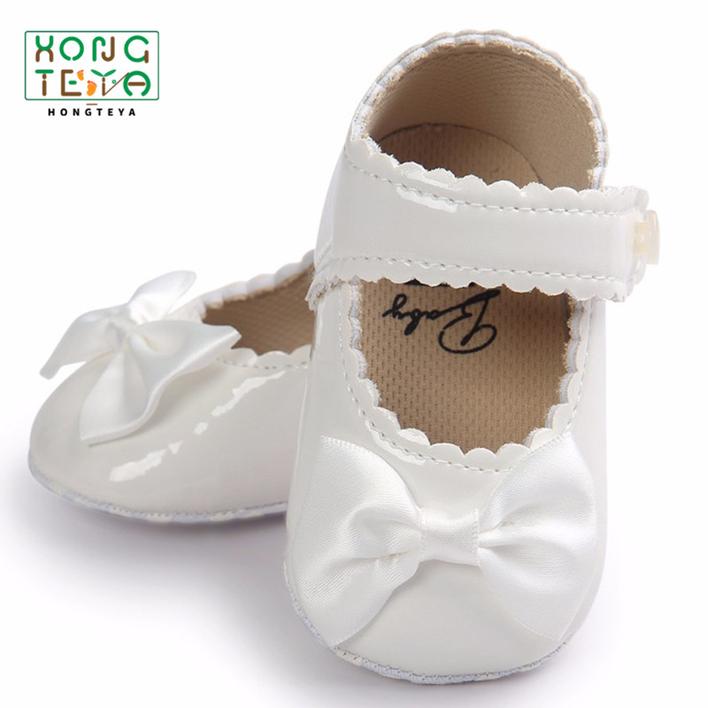 ROMIRUS PU Leather Baby Girl Shoes Brand Handmade Cute First Walkers Princess Bow Infant Baby Booties Spring Autumn Shoes