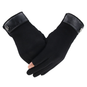 Image 4 - Winter Men Mitten 2 Fingers Exposed Keep Warm Touch Screen Windproof Thin Guantes Driving Anti Slip Outdoor Fishing Male Gloves