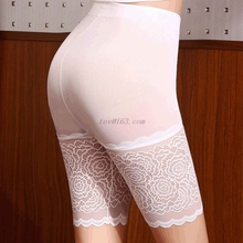 Safety Shorts Seamless Crochet Underpants Butt-Lift Lace High-Elasticity Ladies Trim