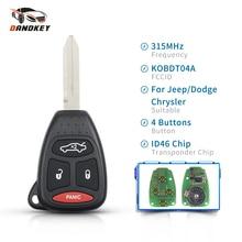 Dandkey 4 Buttons Fob 315Mhz KOBDT04A Remote Car Key For Dodge Chrysler Jeep Dakota Durango Charger 300 Aspen Grand Cherokee
