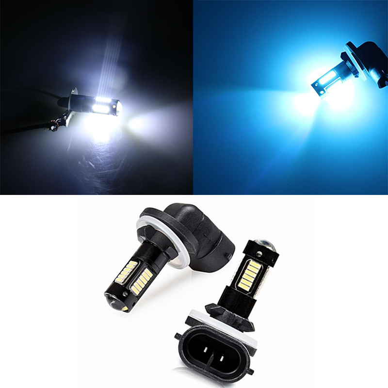 H27 880 881 Light LED High Power Fog Driving Light Bulbs Blue Yellow White Car Fog Light Lamps 12V H27 Driving Lamp