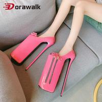 2020 New Arrival Extreme High Heels 30cm Heel Stilettos Platform Women Pumps Sexy Fetish Party Nightclub SM Patent Leather Plus